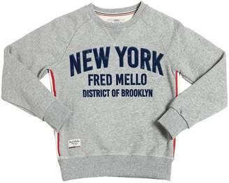 Fred Mello Flocked Cotton Sweatshirt