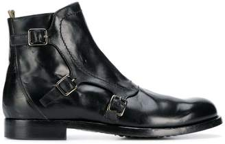 Officine Creative buckle ankle boots