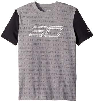 Under Armour Kids Steph Curry 30 Reppin Shersey Short Sleeve Tee Boy's T Shirt