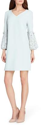 Tahari Lace & Ruffle Sleeve Shift Dress