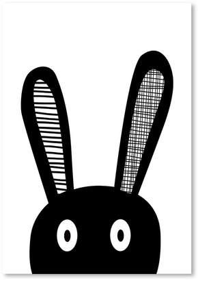 Americanflat Bunny Selfie Print Art, Print Only