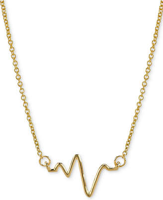 """Sarah Chloe Heartbeat Necklace in 14k Gold over Silver, 16"""" + 2"""" extender (also available in Sterling Silver)"""