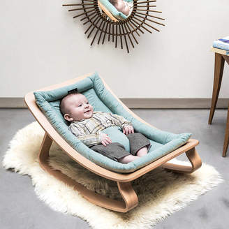 Cuckooland Levo Baby Rocker In Beech Wood With Aruba Cushion
