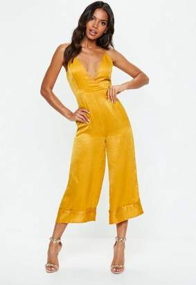 Missguided Mustard Yellow Cami Culotte Romper