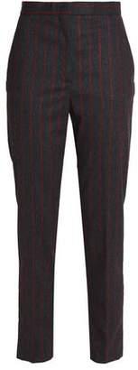 MSGM Pinstriped Twill Slim-Leg Pants
