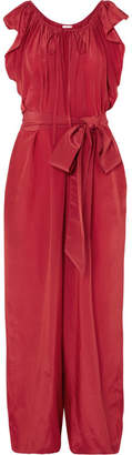 Kalita - Andromeda Nights Silk And Cupro-blend Jumpsuit - Red