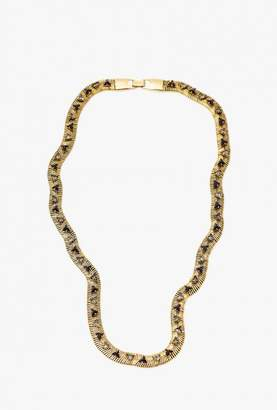 Nicole Romano Snake Chain w/ Triangle Necklace
