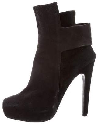 Aperlaï Leather Platform Booties