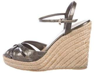 Gucci Guccissima Espadrille Wedges