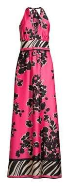 Milly Angel Jungle Floral A-Line Maxi Dress