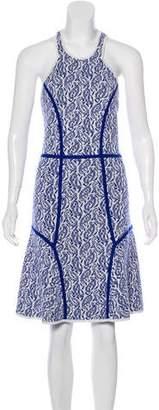 Yigal Azrouel Merino Wool Printed Sleeveless Dress