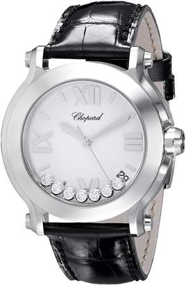 Chopard Women's 278475-3001 Happy Sport II Round Mother-Of-Pearl Dial Watch