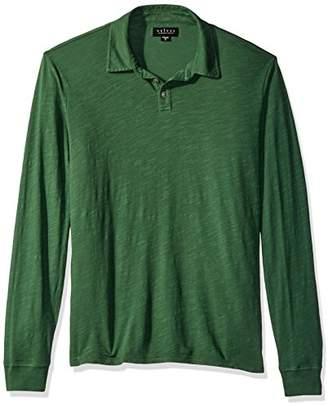 Velvet by Graham & Spencer Men's Tyson Long Sleeve Polo Shirt in Cotton Slub