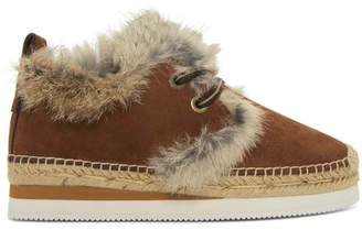 See by Chloe Brown Fur Glyn Moccasins