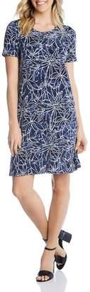 Karen Kane Short-Sleeve Printed Shift Dress