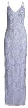 Aidan Mattox Sleeveless Allover Beaded Gown