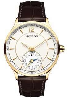 Movado Embossed Leather Strap Quartz Watch $1,295 thestylecure.com