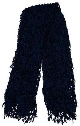 Fendi Open Knit Fringe Scarf