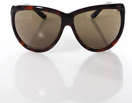 Tom Ford Tom Ford Brown Tortoise Shell Gold Tone Round Sunglasses