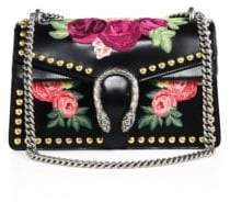 Gucci Dionysus Studded Floral-Embroidered Leather Chain Shoulder Bag