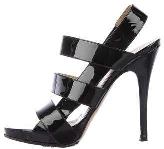 Valentino Patent Leather Strap Sandals