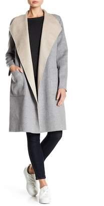 Blend of America Kinross Reversible Drape Collar Wool & Cashmere Coat