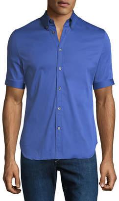 Alexander McQueen Men's Short-Sleeve Sport Shirt