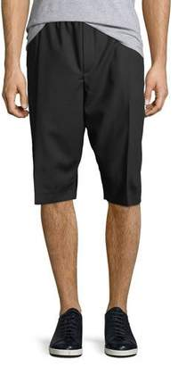 McQ Men's Pleated-Front Wool Shorts