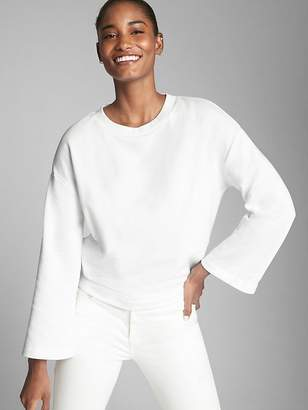 Gap Tie-Back Pullover Sweatshirt in French Terry