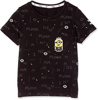Puma (プーマ) - [プーマ] トレーニングウェア ミニオンズ 半袖 Tシャツ 852081 [ボーイズ] プーマ ホワイト (02) US 128 (日本サイズ130 相当)
