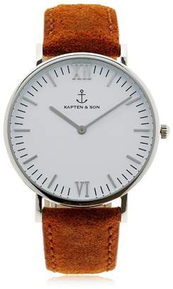 KAPTEN & SON 40mm Vintage Leather Watch