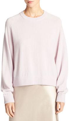 Vince Cashmere Raglan Crewneck Sweater $325 thestylecure.com