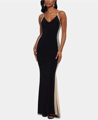 Xscape Evenings Beaded Colorblocked Gown