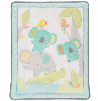 Baby First by Nemcor 3-Piece Jungle Chatter Crib Bedding Set