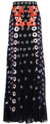 Temperley London Sequin-Embellished Embroiderd Silk-Crepe Maxi Skirt