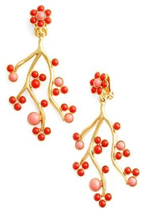 Women's Oscar De La Renta Vine Clip Earrings $335 thestylecure.com
