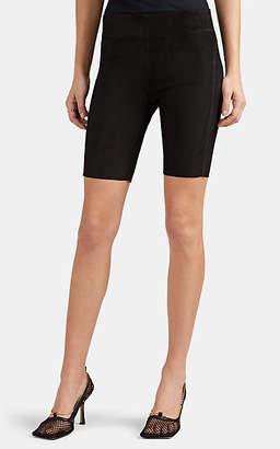 Jil Sander Women's Suede Bike Shorts - Black