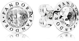 Pandora Radiant Logo Stud Earrings