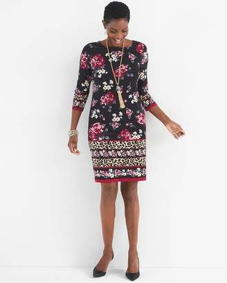 Chico's Chicos Floral Leopard-Print Dress