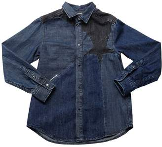 Diesel Star Patchwork Stretch Denim Shirt