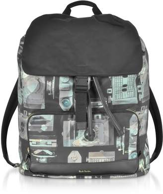 17541272d586 Paul Smith Camouflage Pauls Camera Print Flap Mens Backpack
