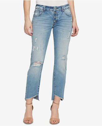 William Rast Cotton Ripped Button-Up Jeans
