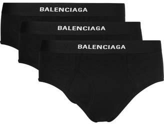 Balenciaga Three-Pack Stretch-Jersey Briefs