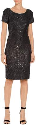 St. John Sparkle Sequin Knit Dress