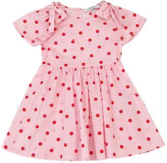 VIVETTA POLKA DOT PRINT COTTON DRESS W/BOWS