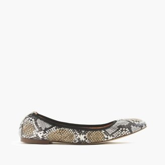 Lea ballet flats in snakeskin-printed leather $128 thestylecure.com
