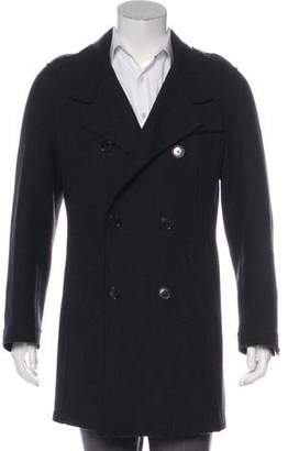 Dolce & Gabbana Wool Double-Breasted Peacoat