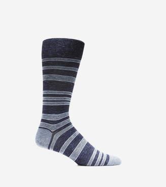 Cole Haan Cotton Twist Stripe Crew Socks