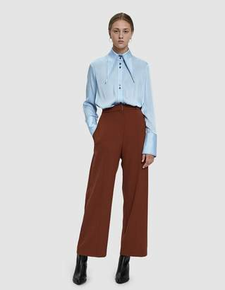 Mijeong Park Front Seam Wide Leg Pants in Rust