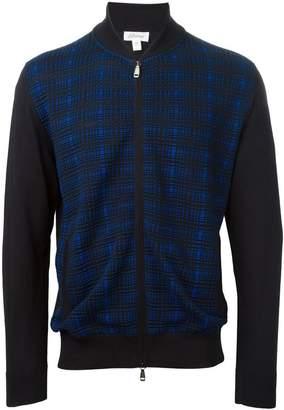 Brioni fine knit plaid jacket